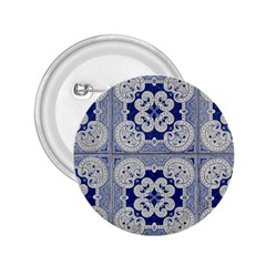 Ceramic Portugal Tiles Wall 2.25  Buttons