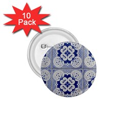 Ceramic Portugal Tiles Wall 1 75  Buttons (10 Pack)