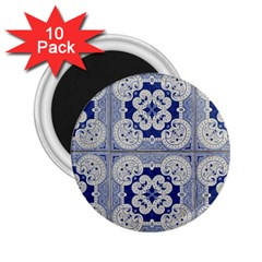 Ceramic Portugal Tiles Wall 2 25  Magnets (10 Pack)