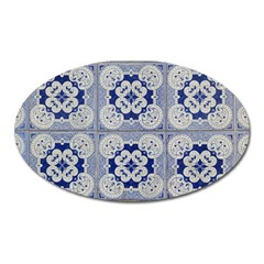 Ceramic Portugal Tiles Wall Oval Magnet
