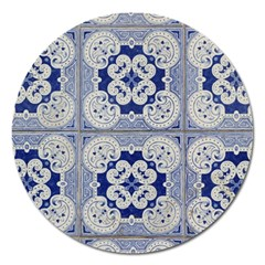 Ceramic Portugal Tiles Wall Magnet 5  (round)