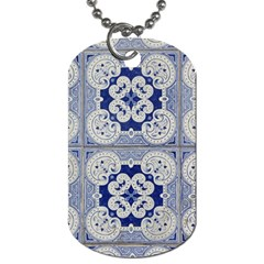 Ceramic Portugal Tiles Wall Dog Tag (one Side)