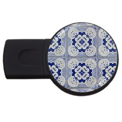 Ceramic Portugal Tiles Wall Usb Flash Drive Round (2 Gb)