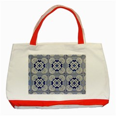 Ceramic Portugal Tiles Wall Classic Tote Bag (red)