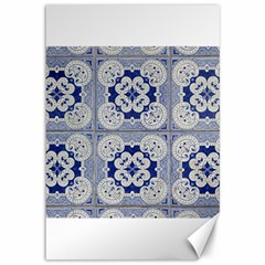 Ceramic Portugal Tiles Wall Canvas 12  X 18