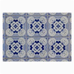 Ceramic Portugal Tiles Wall Large Glasses Cloth