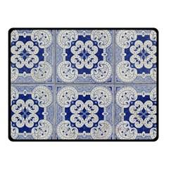 Ceramic Portugal Tiles Wall Fleece Blanket (Small)