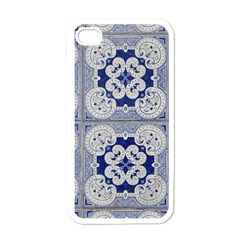 Ceramic Portugal Tiles Wall Apple iPhone 4 Case (White)