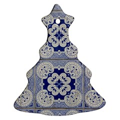 Ceramic Portugal Tiles Wall Christmas Tree Ornament (two Sides)