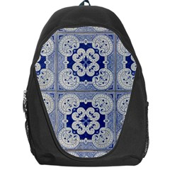 Ceramic Portugal Tiles Wall Backpack Bag