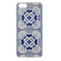 Ceramic Portugal Tiles Wall Apple Iphone 5 Seamless Case (white)