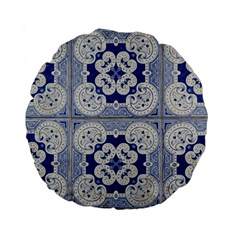 Ceramic Portugal Tiles Wall Standard 15  Premium Round Cushions