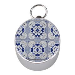 Ceramic Portugal Tiles Wall Mini Silver Compasses