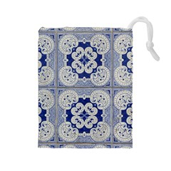 Ceramic Portugal Tiles Wall Drawstring Pouches (large)