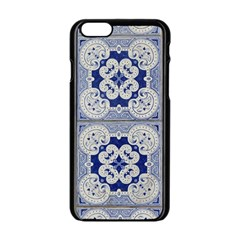 Ceramic Portugal Tiles Wall Apple Iphone 6/6s Black Enamel Case