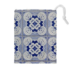 Ceramic Portugal Tiles Wall Drawstring Pouches (extra Large)