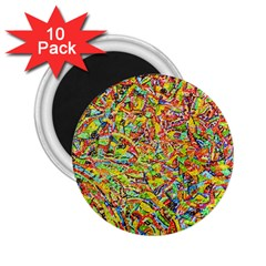 Canvas Acrylic Design Color 2 25  Magnets (10 Pack)