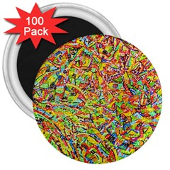 Canvas Acrylic Design Color 3  Magnets (100 Pack)