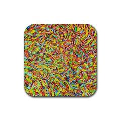 Canvas Acrylic Design Color Rubber Coaster (square)