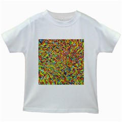 Canvas Acrylic Design Color Kids White T Shirts