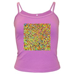 Canvas Acrylic Design Color Dark Spaghetti Tank