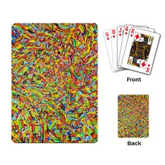 Canvas Acrylic Design Color Playing Card