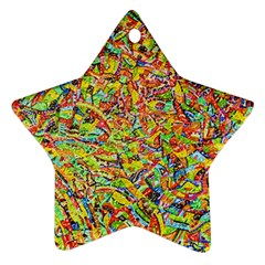 Canvas Acrylic Design Color Star Ornament (two Sides)