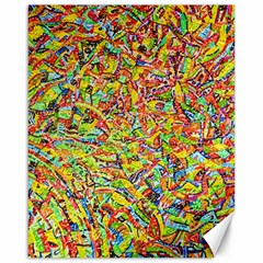 Canvas Acrylic Design Color Canvas 16  x 20