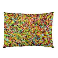 Canvas Acrylic Design Color Pillow Case