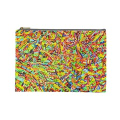 Canvas Acrylic Design Color Cosmetic Bag (large)