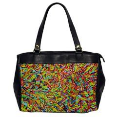 Canvas Acrylic Design Color Office Handbags