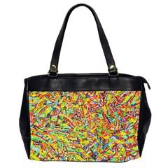Canvas Acrylic Design Color Office Handbags (2 Sides)