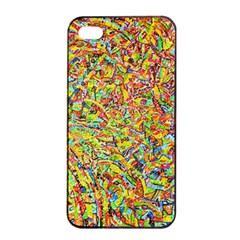 Canvas Acrylic Design Color Apple Iphone 4/4s Seamless Case (black)