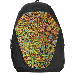 Canvas Acrylic Design Color Backpack Bag