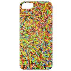 Canvas Acrylic Design Color Apple Iphone 5 Classic Hardshell Case