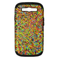 Canvas Acrylic Design Color Samsung Galaxy S Iii Hardshell Case (pc+silicone)