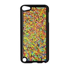Canvas Acrylic Design Color Apple Ipod Touch 5 Case (black)