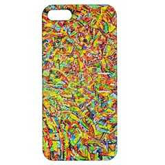 Canvas Acrylic Design Color Apple Iphone 5 Hardshell Case With Stand