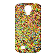 Canvas Acrylic Design Color Samsung Galaxy S4 Classic Hardshell Case (pc+silicone)