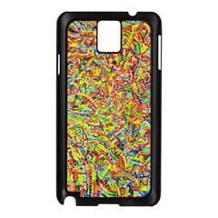 Canvas Acrylic Design Color Samsung Galaxy Note 3 N9005 Case (black)