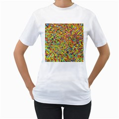 Canvas Acrylic Design Color Women s T Shirt (white)