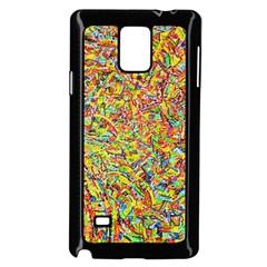 Canvas Acrylic Design Color Samsung Galaxy Note 4 Case (black)