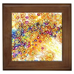 Canvas Acrylic Design Color Framed Tiles