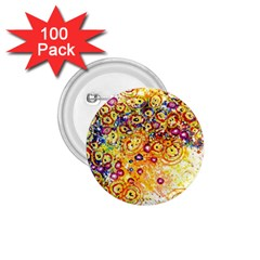 Canvas Acrylic Design Color 1 75  Buttons (100 Pack)