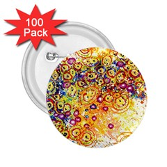 Canvas Acrylic Design Color 2 25  Buttons (100 Pack)