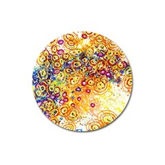 Canvas Acrylic Design Color Magnet 3  (round)