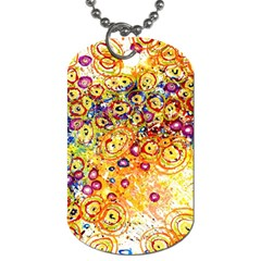 Canvas Acrylic Design Color Dog Tag (One Side)