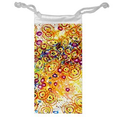 Canvas Acrylic Design Color Jewelry Bag