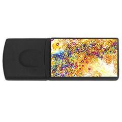 Canvas Acrylic Design Color Usb Flash Drive Rectangular (4 Gb)