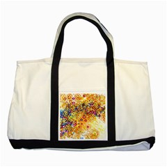 Canvas Acrylic Design Color Two Tone Tote Bag